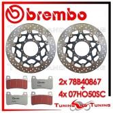 Dischi E Pastiglie Freno Anteriore Brembo HONDA CB 1000 R ABS 2009 78B40867 + 07HO50SC