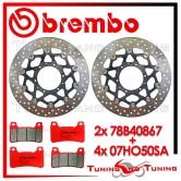 Dischi E Pastiglie Freno Anteriore Brembo HONDA CBR 1000 RR 2004 2005 78B40867 + 07HO50SA