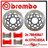 Dischi E Pastiglie Freno Anteriore Brembo HONDA CB 1000 R ABS 2009 78B40867 + 07HO50SA