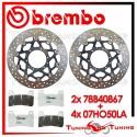 Dischi E Pastiglie Freno Anteriore Brembo HONDA CBR 600 RR ABS 2009 2010 78B40867 + 07HO50LA