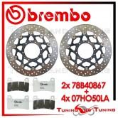 Dischi E Pastiglie Freno Anteriore Brembo HONDA CB 1000 R ABS 2009 2010 78B40867 + 07HO50LA