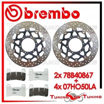 Dischi E Pastiglie Freno Anteriore Brembo HONDA CB 1000 R 2008 2009 78B40867 + 07HO50LA