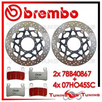 Dischi E Pastiglie Freno Anteriore Brembo HONDA CBR 600 RR 2003 2004 78B40867 + 07HO45SC