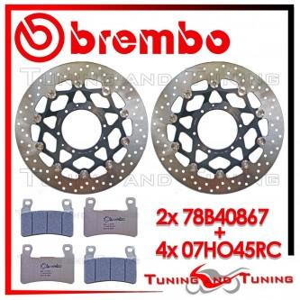 Dischi E Pastiglie Freno Anteriore Brembo HONDA CBR 600 RR 2003 2004 78B40867 + 07HO45RC