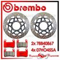 Dischi E Pastiglie Freno Anteriore Brembo HONDA CBR 600 RR 2003 2004 78B40867 + 07HO45SA