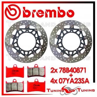Dischi E Pastiglie Freno Anteriore Brembo YAMAHA FZ1 1000 2006 2007 78B40871 + 07YA23SA
