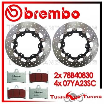 Dischi E Pastiglie Freno Anteriore Brembo YAMAHA TDM 900 ABS 2002 2003 2004 78B40830 + 07YA23SC